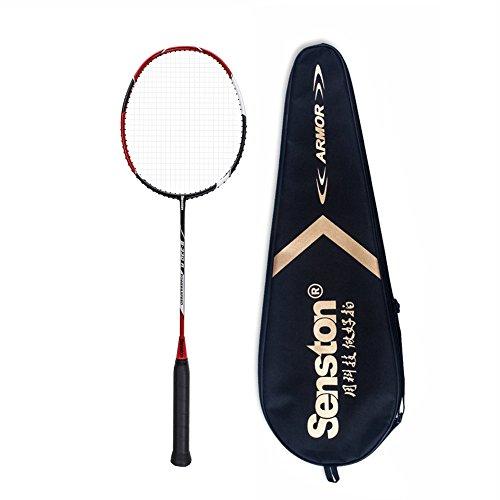 Senston S330 100% Graphit Badminton Set Carbon Badmintonschläger Graphit Badminton Schläger mit Schlägertasche - 3 Farbe