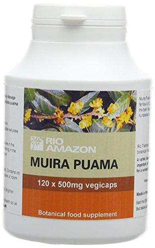Rio Amazon 500 mg Muira Puama Vegetable Capsules - Pack of 120 Test