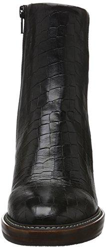 Zinda 2609, Bottes courtes avec doublure chaude femme Noir - Noir