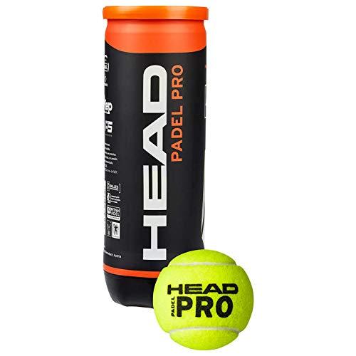 HEAD Bälle Padel Pro-Flasche, gelb, Einheitsgröße (3Stück)