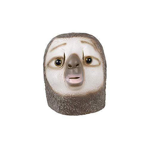, Tiermaske, Latexmaske, Halloween Kostümzubehör, Witzige Pferde Maske für kultige Auftritte schwarzes Pferd (Faultier) (Faultier) ()