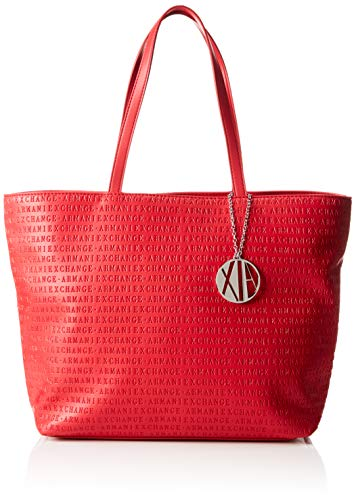 Armani Exchange Damen Womans Shopping Tote, Rot (Red), 29.5x10x43 cm
