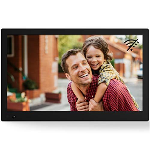 NIX Advance Digitaler Bilderrahmen 17.3 Zoll. Full HD IPS Display. Uhr/Kalender. Auto On/Off (Bewegungssensor). Auto Drehung. Intuitive Fernbedienung. Inkl. 8GB USB-Stick