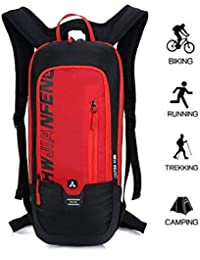 10L Mochilas de Hidratacion Ciclismo al Aire Libre de Unisex Multifuncional Impermeable de Poliester Para Viaje
