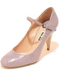 Miu Miu 8124I Decollete Donna Lilla Viola Cinturino Scarpe Shoes Women b0d75b2e89b