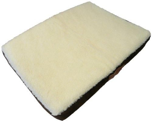 Ellie-Bo Hundebett, orthopädisch, Matratze aus viskoelastischem Kaltschaum / Memory-Schaum, Bezug aus Velourslederimitat / Schaffell, 106.7cm, braun