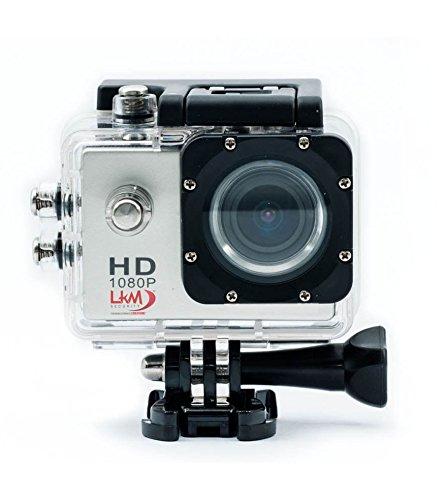 Actioncam HD LKM 1080P Wasserdicht mit microSD-Steckplatz und Micro USB für Sport und professionelle–Farbe SILVER