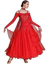 Amazon.it  gonna a ruota - Rosso   Vestiti   Donna  Abbigliamento d8d747f65a4