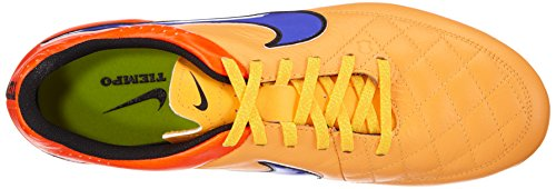 Nike Tiempo Genio Leather FG Homme Chaussures de Football Laser Orange