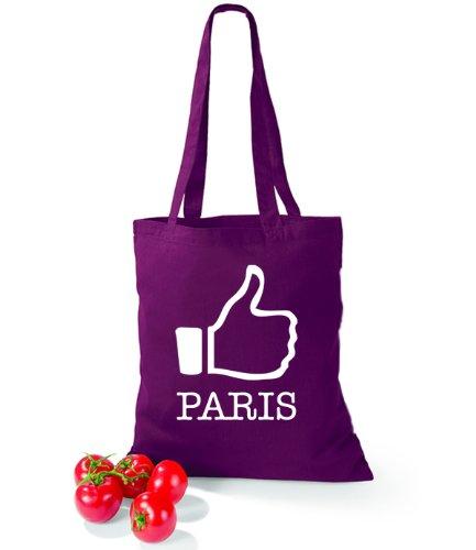 Larte Detta Borsa Di Cotone Mi Piace Il Bordeaux Di Parigi