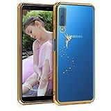kwmobile Funda para Samsung Galaxy A7 (2018) - Carcasa [Trasera] de [TPU] con diseño de Hada en [Dorado/Transparente]
