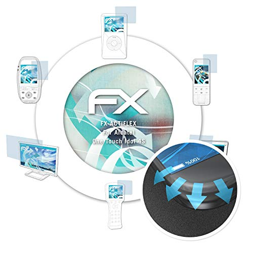 atFolix Schutzfolie passend für Alcatel One Touch Idol 4S Folie, ultraklare & Flexible FX Bildschirmschutzfolie (3er Set)