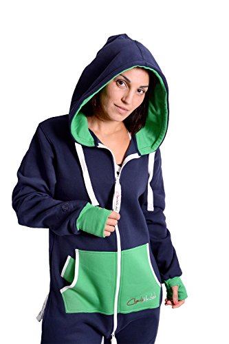 The Classic Unisex Onesie in Inky Blue and Green - XL - 2
