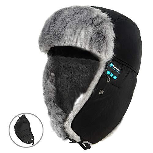 Preisvergleich Produktbild Trapperhut Lei Feng Bluetooth Kappe im Freien Fahren Smart Music Headset Multifunktions-Wintermütze Unisex Winter