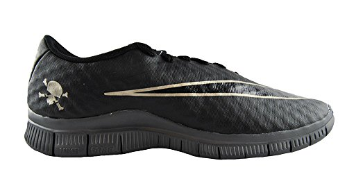 Nike  Free Hypervenom (Gs), Chaussures de football mixte enfant - black black grey dark metallic zinc 001