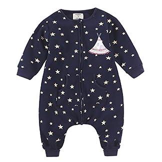 Sacos de Dormir para niños 1.5 Tog con Piernas Mangas Largas Cremallera Frontal 3-5 Años