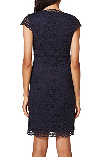 ESPRIT Collection Damen Partykleid Blau (Navy 400)