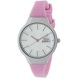 Ladies' THINK POSITIVE® Model SE W31 Classic Steel Strap Of Silicone Color Pink