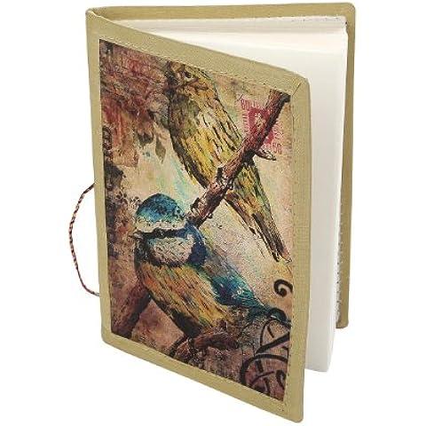 Artigianato Uccello opera stampata Nota ufficiale libro diario