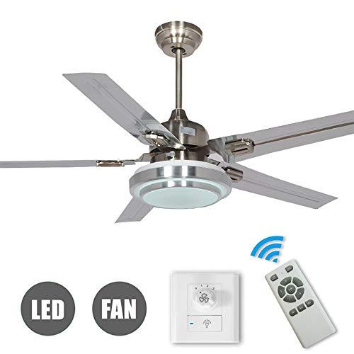 Ventilador de techo de diseño moderno con luz y mando a distancia,...