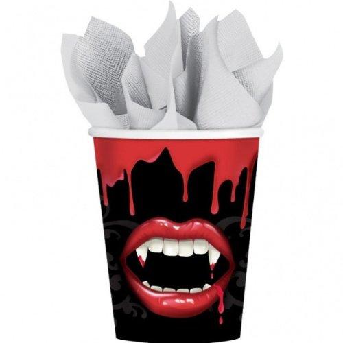 GTASTISCH * für eine gruselige Vampir-Party // Halloween Pappe Einweg Partygeschirr (Vampiros De Halloween)