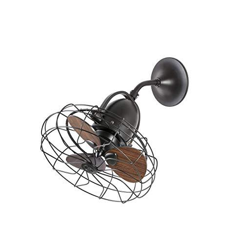 Faro Barcelona 33715 - KEIKI Ventilador de techo de estilo industrial sin luz ø45cm Marron 3 Palas