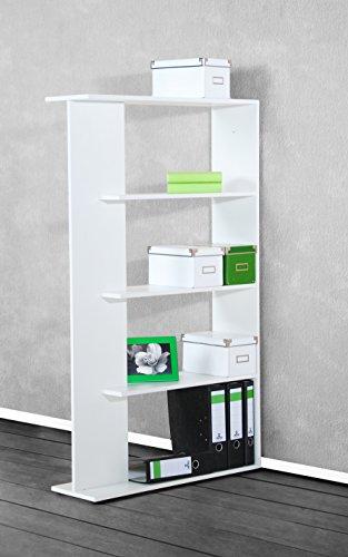 Aktenregal Büroregal Regal - B/H/T: 82/141/25 cm - Weiß