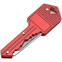 TiooDre Coltello chiave catena coltello pieghevole portatile Peeler Mini Camping chiave a forma di coltello Everyday trasportare attrezzatura