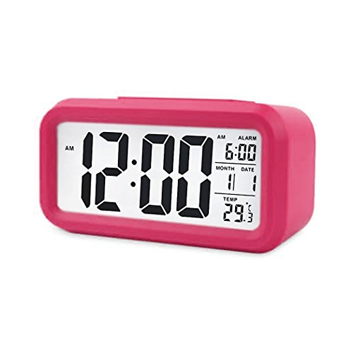 Digital Night Sensor Despertador LED Snooze Button