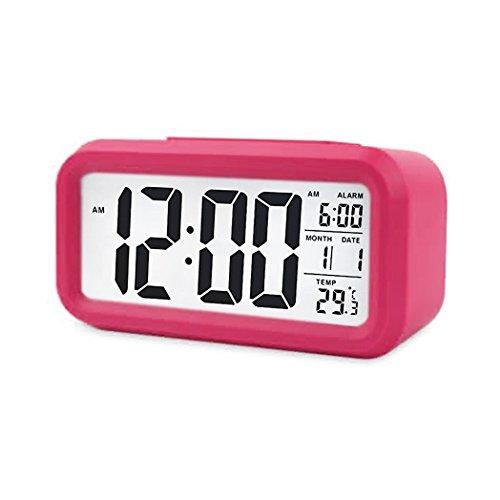 Digital Night Sensor Despertador LED Snooze Button Despertador-Iluminación Viaje Activa Sensor...
