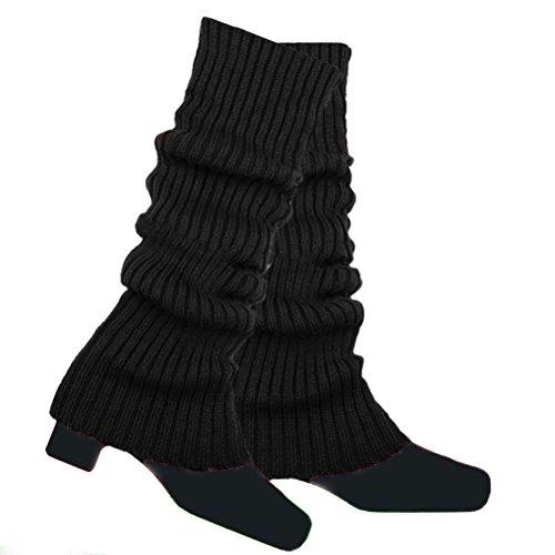 Nanxson(TM Jambière Femmes Longue Tricotée Chaude pour Jambes Multi-couleurs TTW0004 (noir)