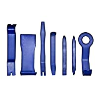 brackit Super-Strong Nylon Car Trim Removal Tool Set - 7x Anti-Scratch Tools for Easily Removing Door Panels Dash Centre Consoles Dashboards - Fast Auto Vehicle Trim Remover Accessories