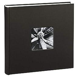 Hama Jumbo Fotoalbum Fine Art, XXL Album im Format 30x30, 100 weiße Seiten für bis zu 400 Fotos im Bildformat 10x15, Fotoalbum zum selbstgestalten, Fotobuch mit Ausschnitt für Bildeinschub, schwarz