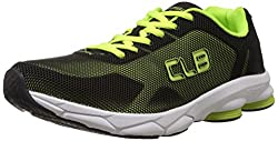 Columbus Mens IQ Black and Green Mesh Running Shoes - 8 UK (IQBLKGRN008)