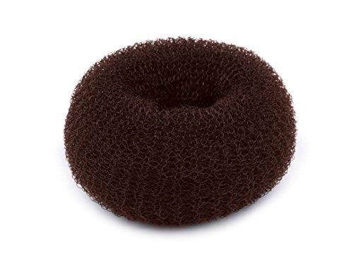 dutt hilfsmittel Dutt Duttkissen Haarknoten Knotenrolle Haardutt Donut Knotenkissen Haarschmuck (Ø 11 cm, braun)