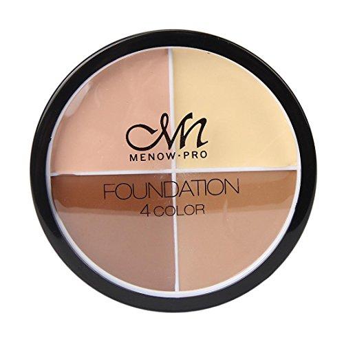Poudre pour le visage, BZLine Professional maquillage Fondation - 4 couleurs Concealer Crème Pro Contour Maquillage Concealer Palette Camouflage (A)