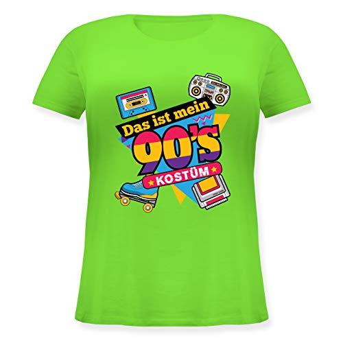 Gruppe Neue Kostüm Jahre - Karneval & Fasching - Das ist Mein 90er Jahre Kostüm - M (46) - Hellgrün - JHK601 - Lockeres Damen-Shirt in großen Größen mit Rundhalsausschnitt
