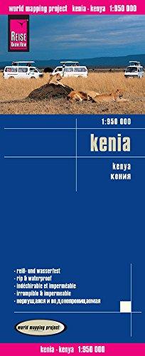 Kenia, mapa de carreteras impermeable. Escala 1:950.000. Reise Know-How. por VV.AA.
