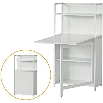 Sobuy 174 Fwt12 W White Home Office 4 Tiers Bookcase