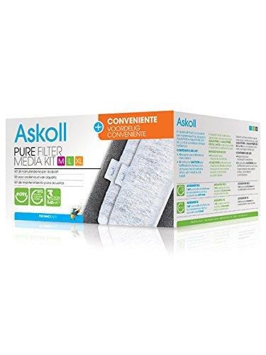 Media Kit (Askoll Pure Filter Media Kit M, L, XL and convenient 3Action Cartridges by Askoll)