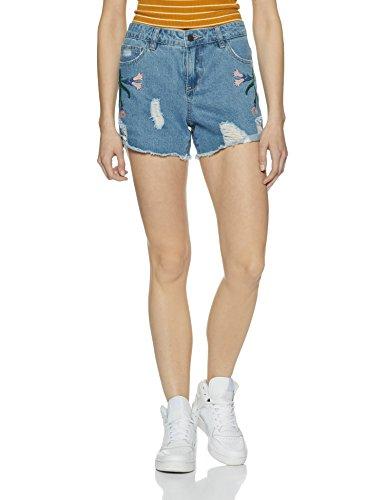 VERO MODA Damen Vmmaisi NW Loose Shorts, Blau (Light Blue Denim), 34 (Herstellergröße: XS) Preisvergleich