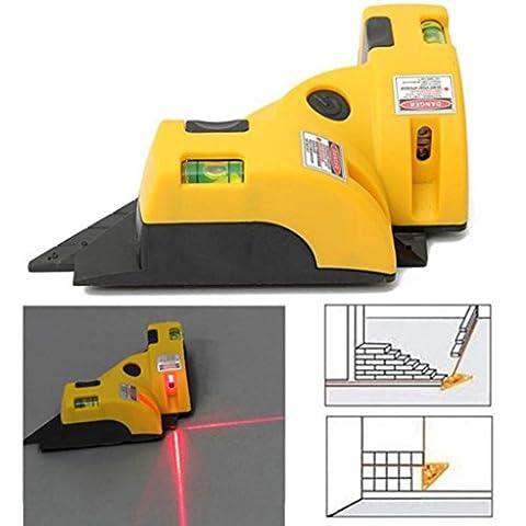 Huihong Rechtwinklig 90 Grad Laser Level Messmessgerät Square Vertical Horizontal Ausrichtung Laser Line Projektion Guide Tool für Home Outdoor Layout Tool W/ Two Bubble Vials