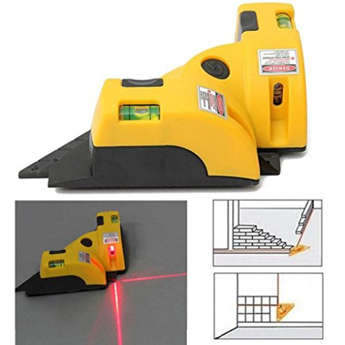 Huihong Rechtwinklig 90 Grad Laser Level Messmessgerät Square Vertical Horizontal Ausrichtung Laser Line Projektion Guide Tool für Home Outdoor Layout Tool W/ Two Bubble Vials (Fliesen Versorgt)