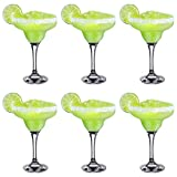 Rink Drink Verres à Cocktail Margarita Verres - 295ml - Lot de 6