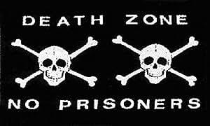 """Death Zone Nr. Gefangenen Pirat/Jolly Roger/Totenkopf mit gekreuzten Knochen, 5 """"x3'Flag Banner"""