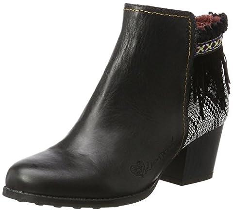 Chaussures Desigual - Desigual Shoes_country Exotic Black, Bottes Chelsea Femme,