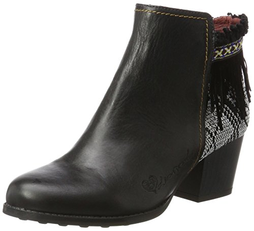 Desigual Damen Shoes_Country Exotic Black Chelsea Boots, Schwarz (Negro), 40 EU