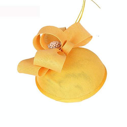 SweetStyle Marineblauer Blumen-süßer Cocktail-Jockey-Club-Haar-Zusatz-Tanz-Leistungs-Hut,gelb
