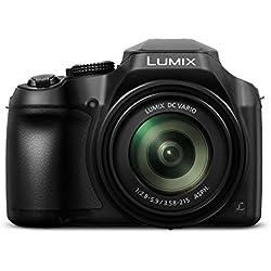 Panasonic Lumix DC FZ82 Appareils Photo Numériques (18 Megapixel, 20mm Grand angle, 60x opt. Zoom, enregistrement vidéo 4K30p, AF à contraste hybride)- Version étrangère