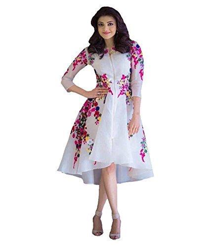 Woman style Princess Cut western wear kurti ( WS7007_Free Size_white)